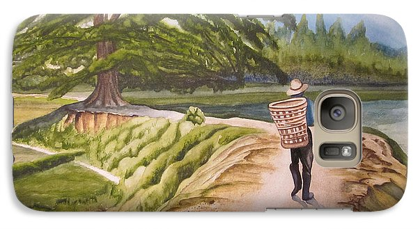 Galaxy Case featuring the painting Walking The Road by Teresa Beyer
