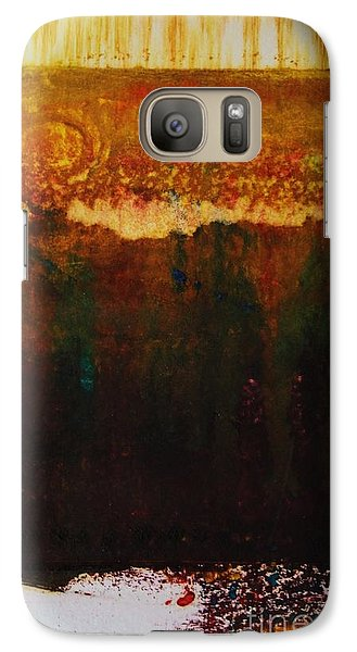 Galaxy Case featuring the painting Walking Through The Fields Of Gold by Helena Bebirian