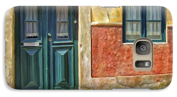 Galaxy Case featuring the painting Walking Through Vila De Conde by Michael Pickett