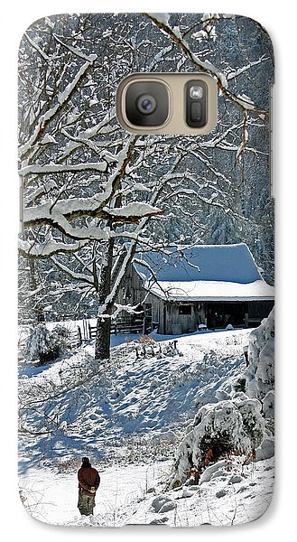 Galaxy Case featuring the photograph Walking Toward The Barn by Denise Romano