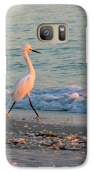 Galaxy Case featuring the photograph Walking Towards The Sunset by Patricia Januszkiewicz
