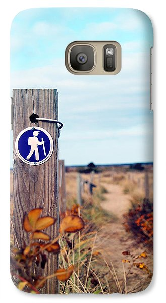 Galaxy Case featuring the photograph Walking Trail By The Sea by Brooke T Ryan