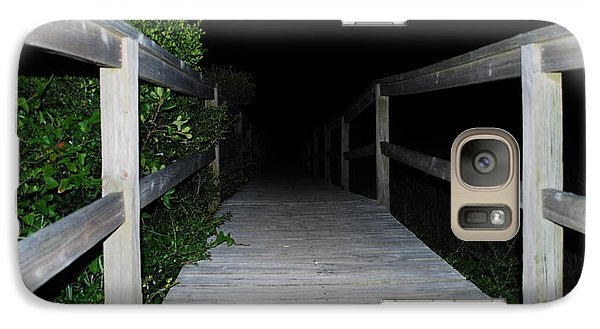 Galaxy Case featuring the photograph Walkway To The Beach by Bob Sample