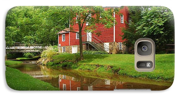 Galaxy Case featuring the photograph Wallace Cross Grist Mill Reflections by Bob Sample