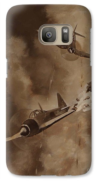 Galaxy Case featuring the painting Walsh Scores Another - Grisaille by Stephen Roberson