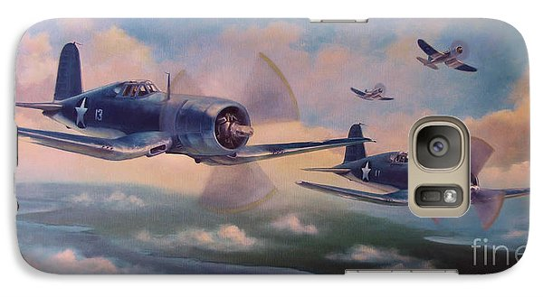 Galaxy Case featuring the painting Walsh's Flight by Stephen Roberson