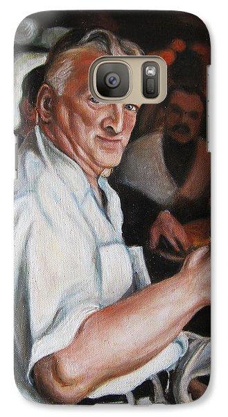 Galaxy Case featuring the painting Walter At Eddies Bar by Melinda Saminski