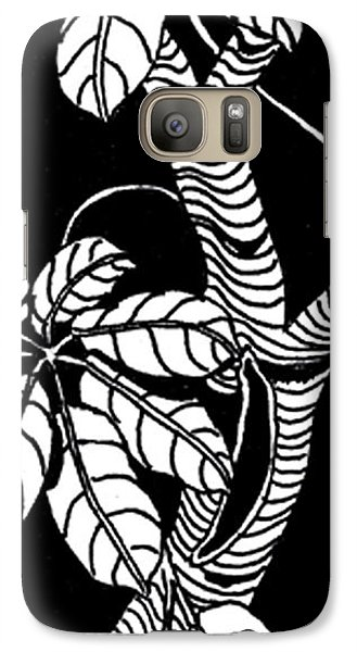 Galaxy Case featuring the drawing Wandering Leaves Octopus Tree Design by Mukta Gupta