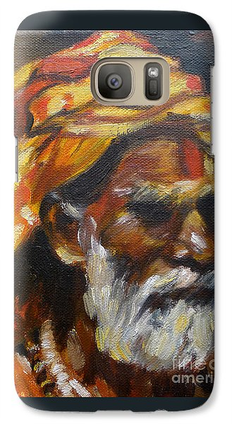 Galaxy Case featuring the painting Wandering Sage Small by Mukta Gupta
