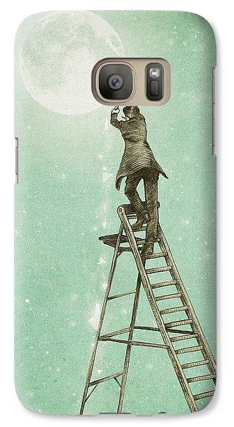 Fantasy Galaxy S7 Case - Waning Moon by Eric Fan