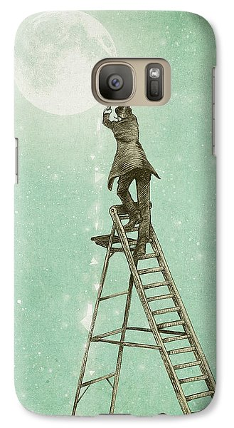 Waning Moon Galaxy S7 Case by Eric Fan