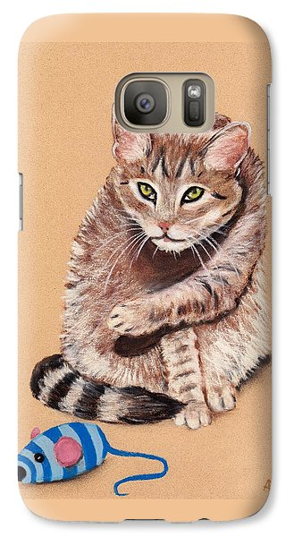 Galaxy S7 Case featuring the painting Want To Play by Anastasiya Malakhova