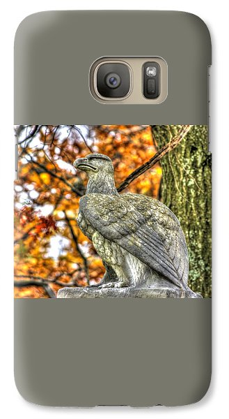 Galaxy Case featuring the photograph War Eagles - 28th Massachusetts Volunteer Infantry Rose Woods The Wheatfield Fall-a Gettysburg by Michael Mazaika