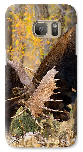 Galaxy Case featuring the photograph War In The Woods by Aaron Whittemore