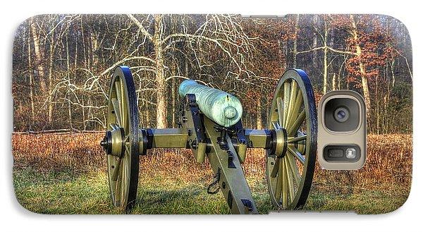 Galaxy Case featuring the photograph War Thunder - 1st New York Light Artillery-a1 Battery D The Wheatfield Gettysburg by Michael Mazaika