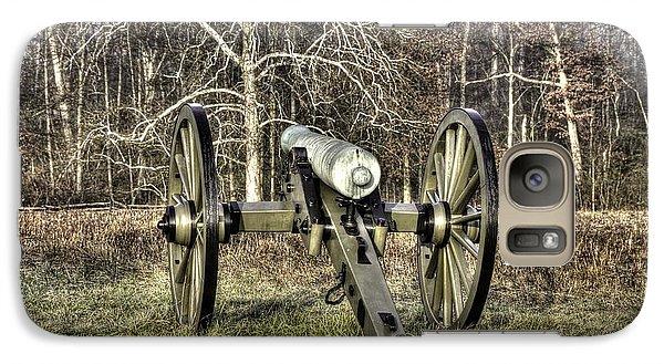 Galaxy Case featuring the photograph War Thunder - 1st New York Light Artillery-a2 Battery D The Wheatfield Late Winter Gettysburg by Michael Mazaika