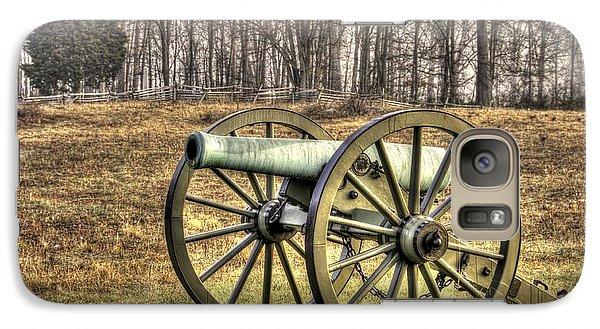 Galaxy Case featuring the photograph War Thunder - 1st New York Light Artillery-b1 Battery D The Wheatfield Late Winter Gettysburg by Michael Mazaika