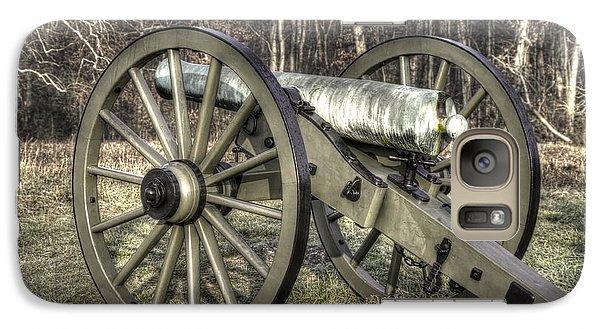 Galaxy Case featuring the photograph War Thunder - 1st New York Light Artillery-c1 Battery D The Wheatfield Late Winter Gettysburg by Michael Mazaika