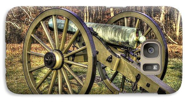 Galaxy Case featuring the photograph War Thunder - 1st New York Light Artillery-c2 Battery D The Wheatfield Late Winter Gettysburg by Michael Mazaika