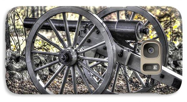 Galaxy Case featuring the photograph War Thunder - The Albemarle Va Artillery Wyatt's Battery-b1 West Confederate Ave Gettysburg by Michael Mazaika