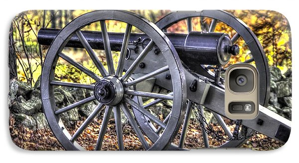 Galaxy Case featuring the photograph War Thunder - The Albemarle Va Artillery Wyatt's Battery-b2 West Confederate Ave Gettysburg by Michael Mazaika