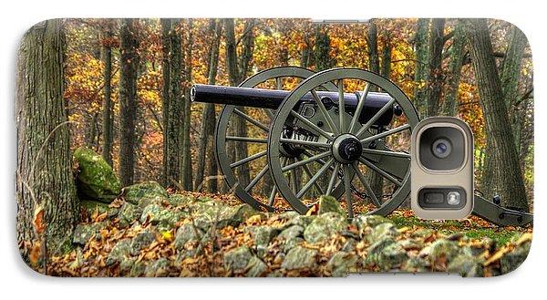 Galaxy Case featuring the photograph War Thunder - The Albemarle Va Artillery Wyatt's Battery West Confederate Ave Gettysburg by Michael Mazaika