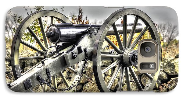 Galaxy Case featuring the photograph War Thunder - The Letcher Artillery Brander's Battery West Confederate Ave Gettysburg by Michael Mazaika
