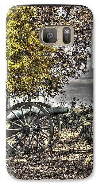 Galaxy Case featuring the photograph War Thunder - The Purcell Artillery Mc Graw's Battery-a2 West Confederate Ave Gettysburg by Michael Mazaika