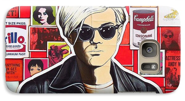Galaxy Case featuring the mixed media Warhol by Joseph Sonday