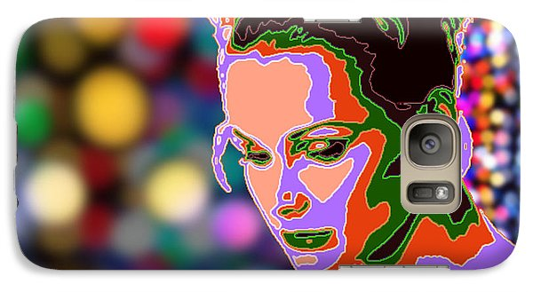 Galaxy Case featuring the photograph Warhol Style Portrait by Ze  Di