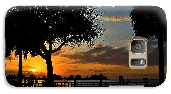 Galaxy Case featuring the photograph Warm Glowing Sunset by Richard Zentner