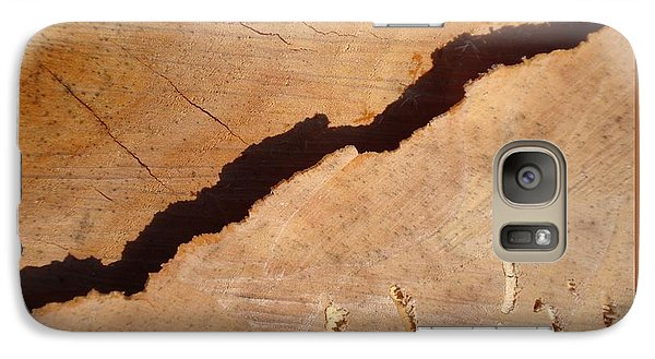 Galaxy Case featuring the photograph Warm Willow Wood-iii by Patricia Overmoyer