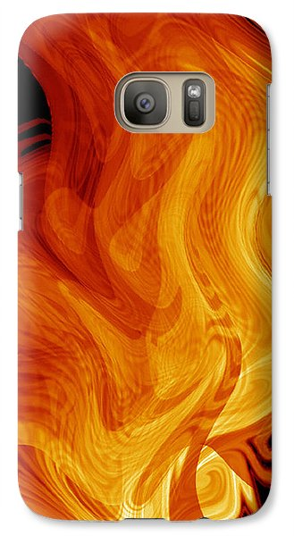 Galaxy Case featuring the digital art Warmth by rd Erickson