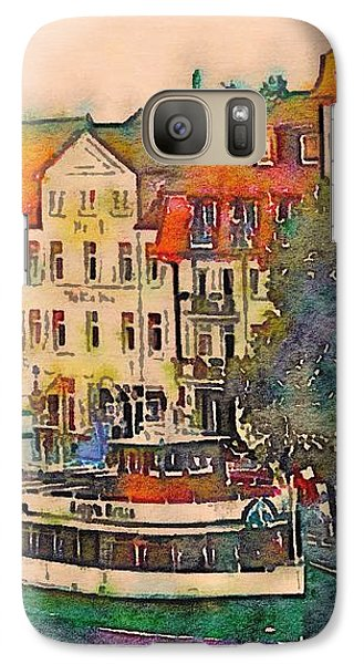 Galaxy Case featuring the photograph Warnemunde In Watercolor by Susan Maxwell Schmidt