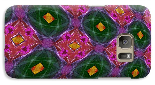 Galaxy Case featuring the photograph Warped Kaleidoscopic Lattice by Gregory Scott