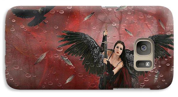 Galaxy Case featuring the digital art Warrior Angel  by Riana Van Staden
