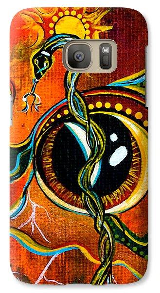 Galaxy Case featuring the painting Warrior Spirit Eye by Deborha Kerr