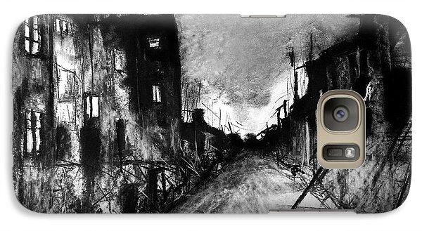 Galaxy Case featuring the drawing Warsaw Ghetto 1945 by Maja Sokolowska