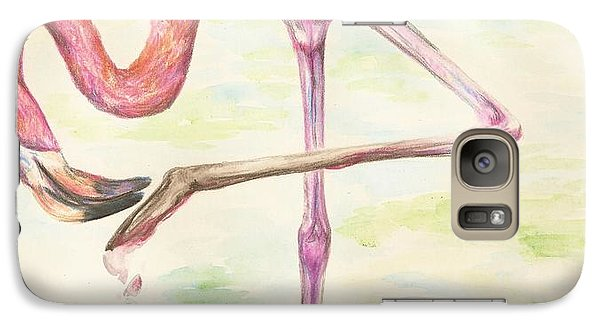 Galaxy Case featuring the drawing Washable Pink by Meagan  Visser