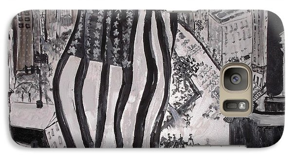 Galaxy Case featuring the painting Washington D.c. 1920 Parade by Leslie Byrne