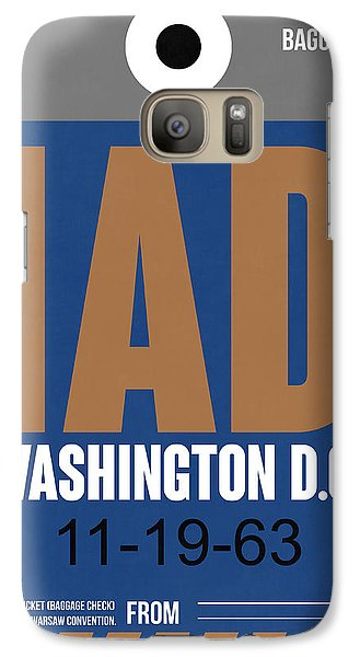 Washington D.c. Airport Poster 4 Galaxy S7 Case by Naxart Studio