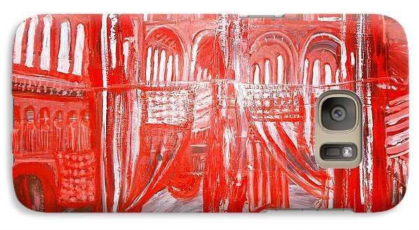 Galaxy Case featuring the painting Washington D.c. Pension Bldg by Leslie Byrne