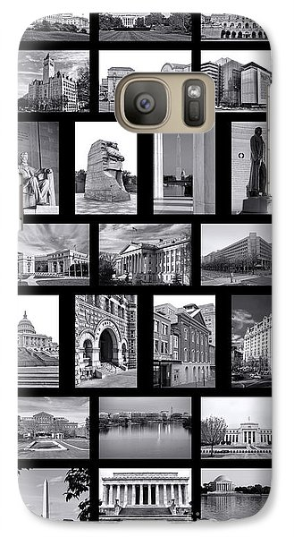 Washington Dc Poster Galaxy S7 Case by Olivier Le Queinec