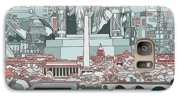 Washington Dc Skyline Abstract Galaxy S7 Case