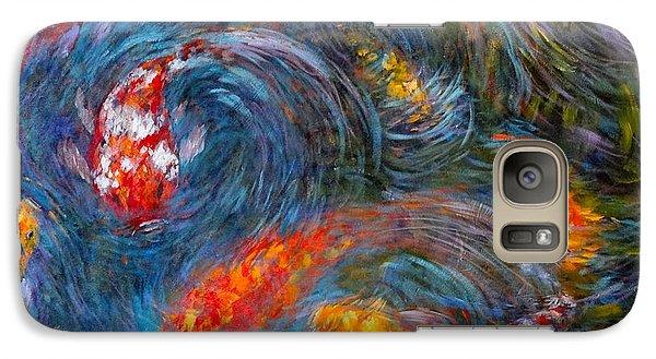 Galaxy Case featuring the painting Washington Koi by Charles Munn