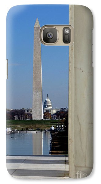 Lincoln Memorial Galaxy S7 Case - Washington Landmarks by Olivier Le Queinec