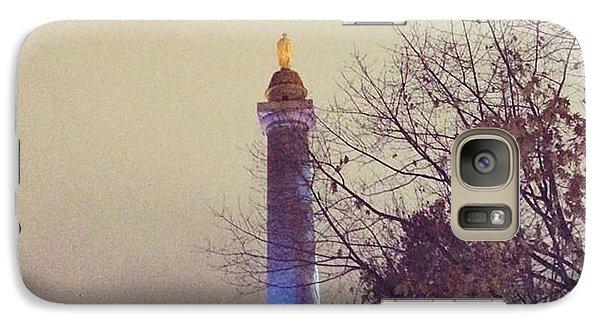 Galaxy Case featuring the photograph Washington Monumen Pre-lighting by Toni Martsoukos