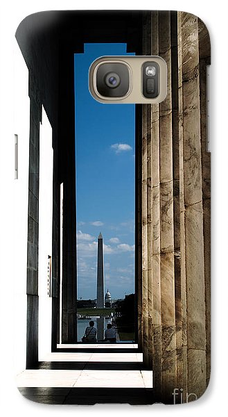 Galaxy Case featuring the photograph Washington Monument Color by Angela DeFrias