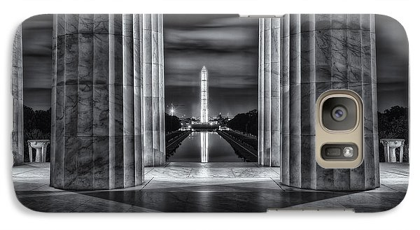 Washington Monument From Lincoln Memorial II Galaxy S7 Case