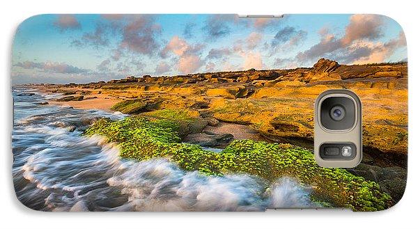 Florida State Galaxy S7 Case - Washington Oaks State Park Coquina Rocks Beach St. Augustine Fl Beaches by Dave Allen